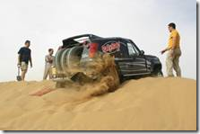 getting stuck in the sand
