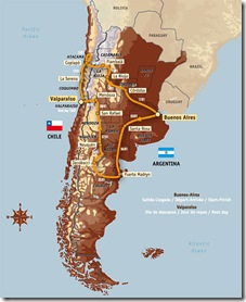 argentina chile map